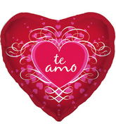 "18"" Foil Balloon Te Amo Scroll"