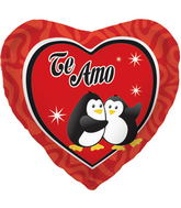 "18"" Foil Balloon Te Amo Penguins"