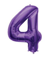 "34"" Northstar Brand Packaged Number 4 - Purple"