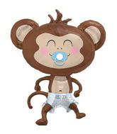"41"" Foil Balloon Baby Boy Monkey"