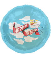 "18"" Foil Balloon Birthday Plane Banner"