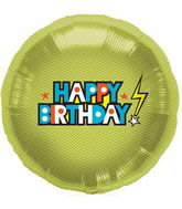 "18"" Foil Balloon Happy Birthday Bolt"