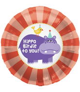 "18"" Foil Balloon Hippo Birdie Birthday"
