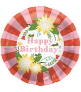 "18"" Foil Balloon Birthday Mod Floral"