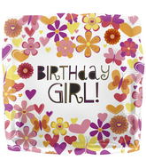 "18"" Foil Balloon Butterfly Birthday Girl"