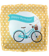 "18"" Foil Balloon Birthday Bike Banner"