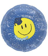"18"" Foil Balloon Spanish Grad Smile Face"