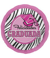 "18"" Foil Balloon Spanish Grad Zebra Hat"