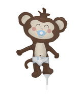 "14"" Airfill Self Sealing  Balloon Baby Boy Monkey"
