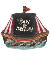 "36"" Foil Balloon Jolly Pirate Ship"