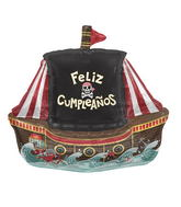 "36"" Foil Balloon Feliz Cumplea�os Pirate Ship"