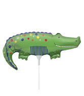 "14"" Cute Crocodile Airfill Balloon Includes Cup and Stick."