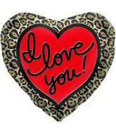 "18"" Foil Balloon Leopard Love"