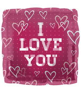 "18"" Foil Balloon Plaid Love"