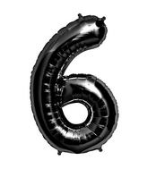 "34"" Foil Balloon Number 6 - Black"