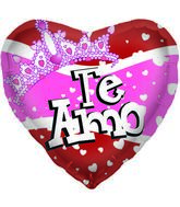 "18"" Foil Balloon Te Amo Crown"