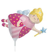 "14"" Fairy Godmother Airfill Balloon Includes Cup and Stick."