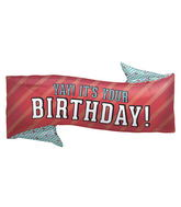"31"" Foil Balloon Yay Birthday Banner"