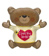 "43"" Foil Balloon Love You Mom Bear"