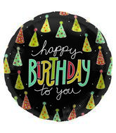 "18"" Foil Balloon Happy Birthday Hats"