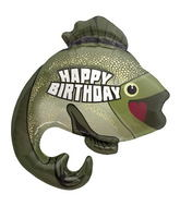 "32"" Foil Balloon Birthday Bass"