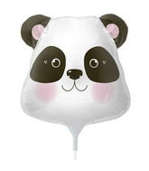 "14"" Panda Head Airfill Balloon Includes Cup and Stick."