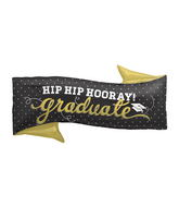 "31"" Foil Balloon Hip Hip Hooray Grad"
