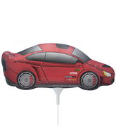 "14"" Sports Car Airfill Balloon Includes Cup and Stick."