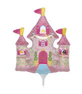 "14"" Princess Castle Airfill Balloon Includes Cup and Stick."