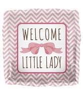 "18"" Foil Balloon Welcome Little Lady"