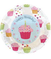 "18"" Foil Balloon Cupcake Hearts Birthday"