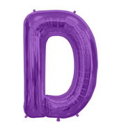 "34"" Northstar Brand Packaged Letter D - Purple"