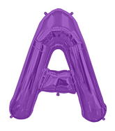 "34"" Northstar Brand Packaged Letter A - Purple"
