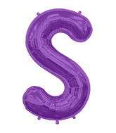"34"" Northstar Brand Packaged Letter S - Purple"