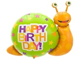 "41"" Foil Balloon Birthday Snail"