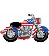 "47"" X 27"" Patriotic Motorcycle Shape Balloon"