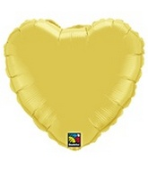 36&#39&#39 Jumbo Gold Heart Shaped Mylar Balloon