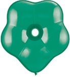 "6"" Geo Blossom Latex Balloons  (100 Count) Emerald Green"