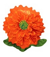 "23"" Orange Qualatex Flower Balloon"