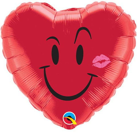 "18"" Naughty Smile & A Kiss Mylar Balloon"
