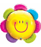 "32"" Funny Face Flower Packaged Mylar Balloon"
