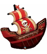"40"" Foil Balloon Pirate Ship"