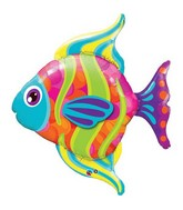 "43"" Fashionable Fish Jumbo Packaged Mylar Balloon"