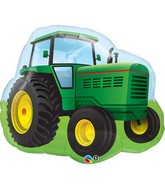 "34"" Farm Tractor Jumbo Packaged Mylar Balloon"