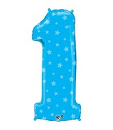 "38"" Number One Blue Stars Balloon"