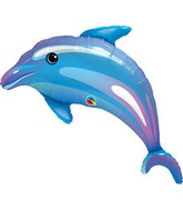 "42"" Delightful Dolphin Jumbo Packaged Mylar Balloon"