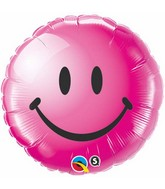 "18"" Wild Berry Smiley Face Packaged Mylar Balloon"