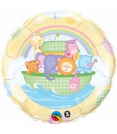 "18"" Baby�s Ark & Rainbow Packaged Mylar Balloon"