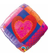 "18"" Heart Accent Patterns Packaged"