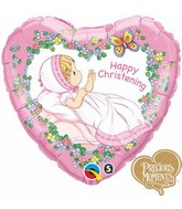 "18"" Happy Christening Girl Precious Moments"